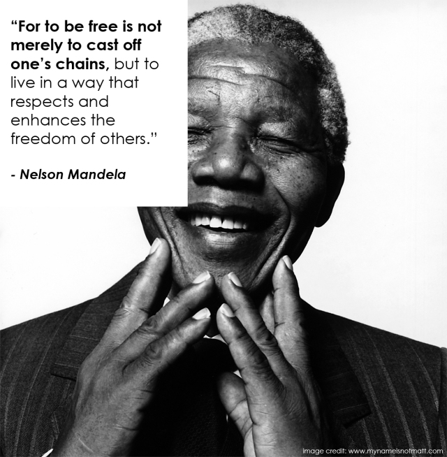 Nelson Mandela on True Freedom: Day 3