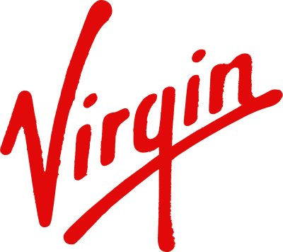 The iconic bright red Virgin Group logo