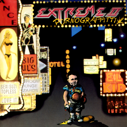 Original artwork for the second album by Extreme titled 'Extreme II: Pornograffitti'