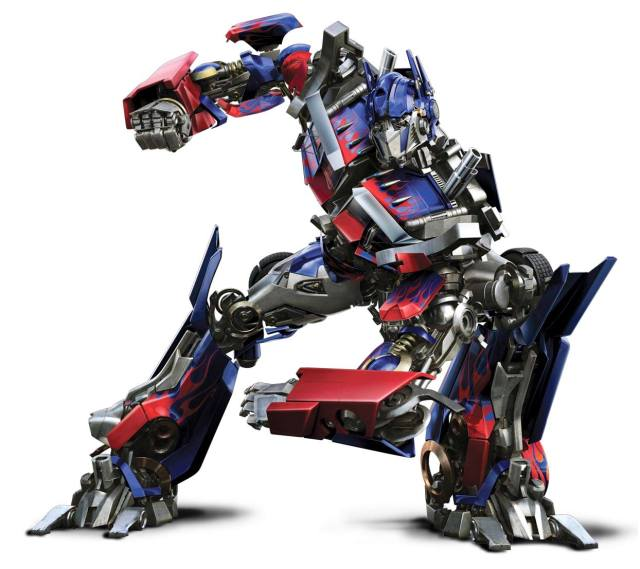 Optimus Prime in battle mode