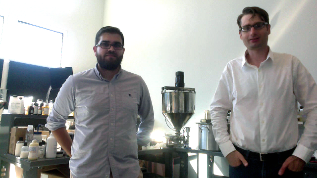 Pembient Co-founders George Bonaci (left) and Matthew Markus in the lab