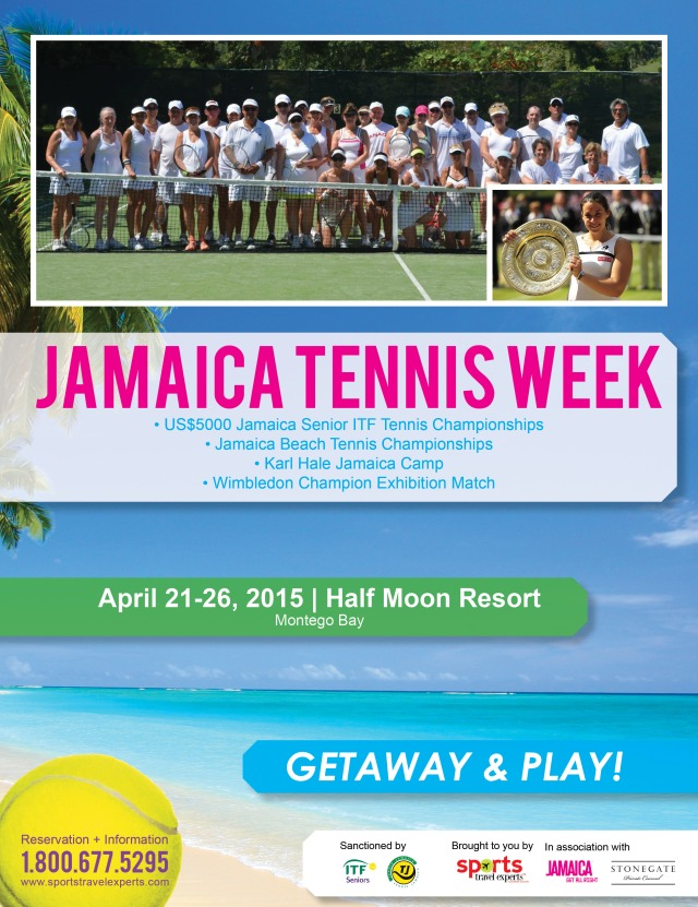 Tennis event advertisement designed for magazine